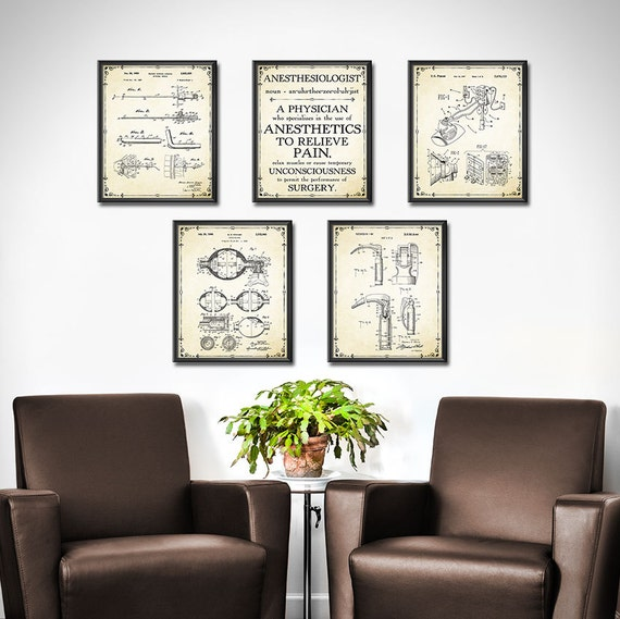 Doctors Office Decor Set Of 5 Anesthesiologist Gift Nurse Etsy