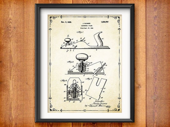 Woodworking Gift For Him Woodworker Gifts For Carpenter Carpentry Wall Art Home Decor Antique Woodworking Tools Patent Prints 1892
