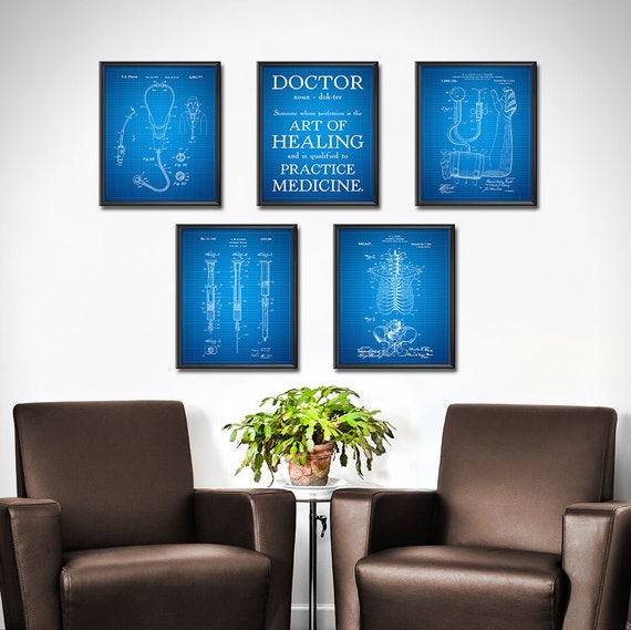 DOCTOR Gift Set OF 5 Doctors Office Decor Medical Patent | Etsy