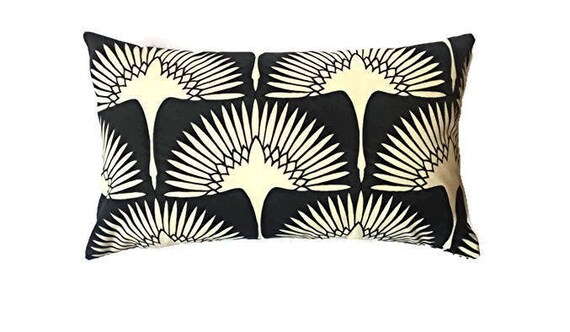 Black And Cream Outdoor Pillow Coverfall Pillow Cover Etsy