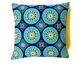 Indoor/Outdoor decorative pillow cover,pillow covers,pillow sets,lumbar pillow covers,lumbar pillow sets,throw pillow,blue pillow cover