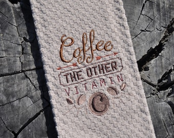 Kitchen towel-Coffee the other vitamin C