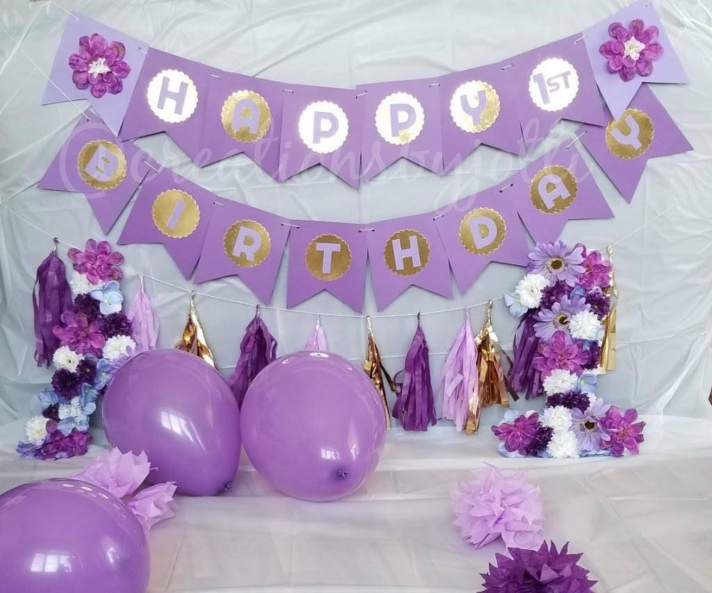 Purple and gold happy birthday banner purple and gold birthday etsy zoom izmirmasajfo