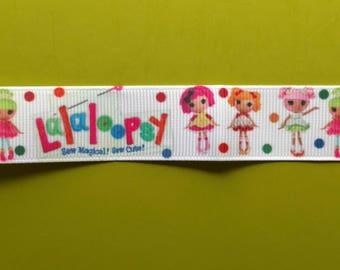 Lalaloopsy inspired 7/8 22 mm grosgrain ribbon