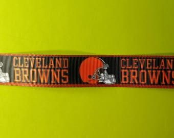 7/8 Grosgrain Ribbon Cleveland Football