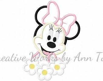 Miss Mouse Sweet Flower Applique