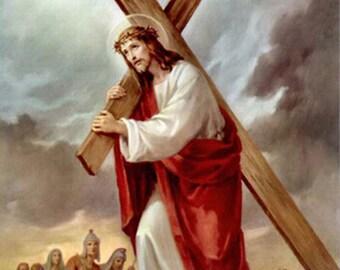 Jesus carrying cross   Etsy