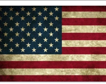 Round 5D DIY Diamond Painting American Flag Cross-Stitch Kit Hobby and Picture