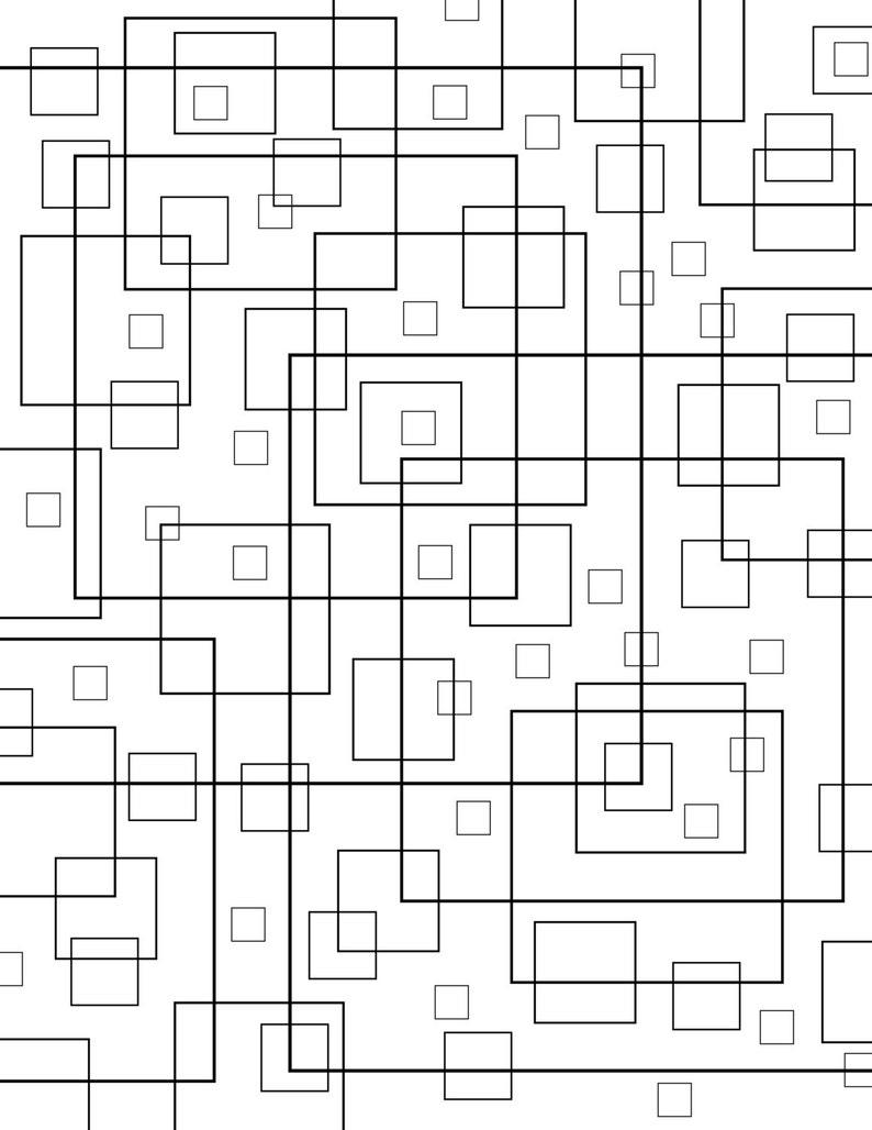 Squares print coloring letter size page golden ratio downloadable pdf large
