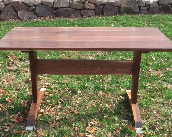 Walnut Trestle Table. Also makes a great desk or work table!