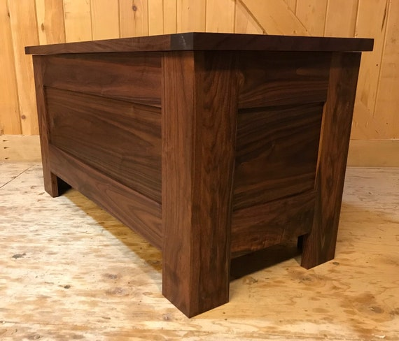 Walnut Chest with  Breadboard Edge Top