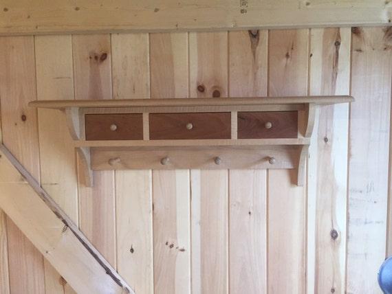 Peg Board Shelf with Drawers