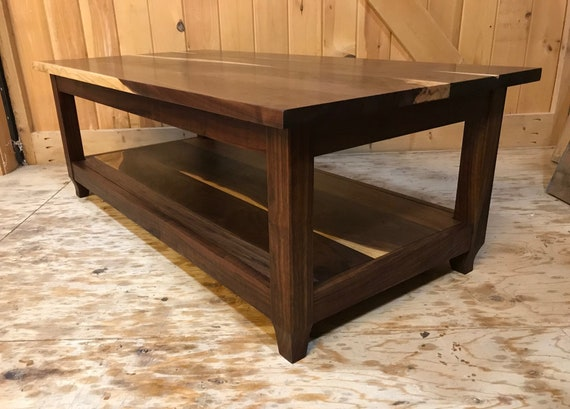 Coffee Table of Walnut and Sapwood