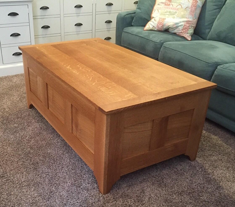Strange Quarter Sawn White Oak Coffee Table Chest Machost Co Dining Chair Design Ideas Machostcouk
