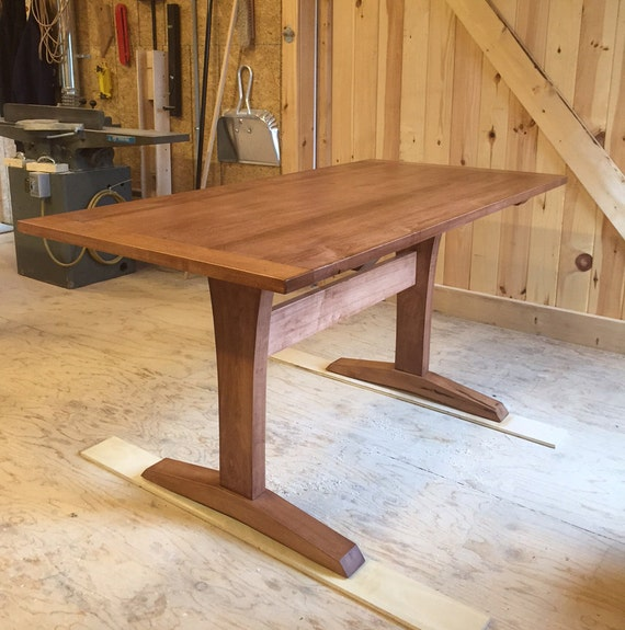 Maple Trestle Table. Also makes a great desk or work table!