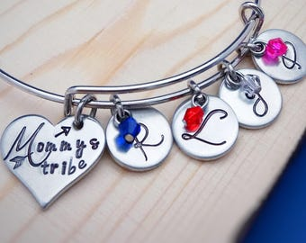 Personalized Jewelry for Mom - Grandmother Bracelet - Christmas Gift for Grandma - Birthstone Jewelry - Gift for Mom - Keepsake Gift
