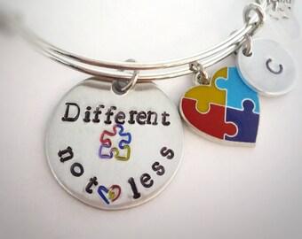 Autism Awareness Bracelet  - Different Not Less - Autism Jewelry