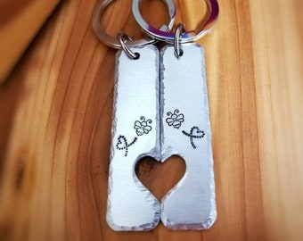 ac09c77880 Couples Key Chain Set - Anniversary Gift - Bumble Bee Key Chain - Best  Friend Gift - Gift for Boyfriend - Long Distance Relationship