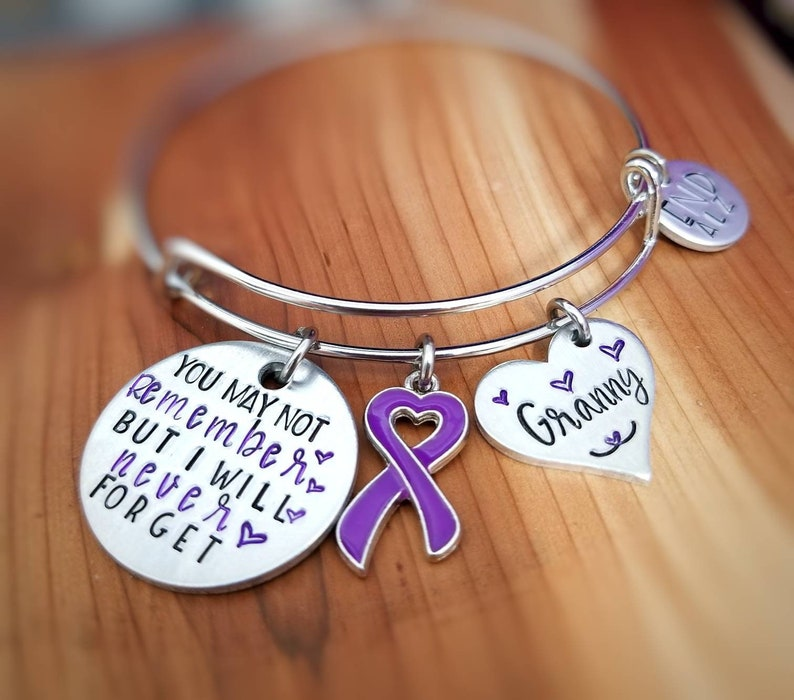 fd4d2079a38 Alzheimer Awareness Bracelet You may not remember but I will | Etsy