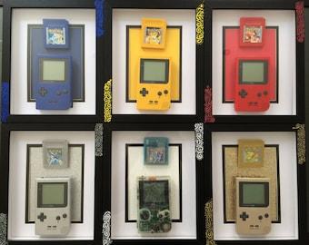 Retro Gaming CuXtom Pokemon Art frame