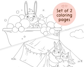 Printable coloring pages for kids - animal coloring sheets set