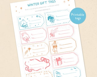 Winter Gift Tags - Christmas Tags