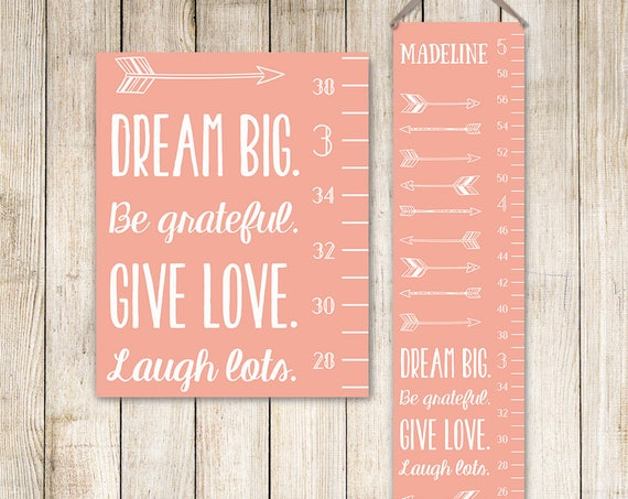 Arrow Growth Chart - Boho Growth Chart, Arrow Nursery Decor, Arrow Nursery Art, Arrow Nursery, Coral Growth Chart - GC0002X