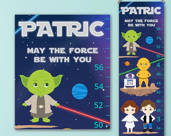 Star Wars Growth Chart -  Star Wars Kids Art, Star Wars Nursery, Star Wars Wall Art