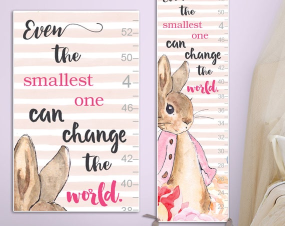Peter Rabbit Growth Chart - Personalized Canvas Growth Chart, Peter Rabbit Nursery, Peter Rabbit Prints, Peter Rabbit Baby Shower - GC4013P