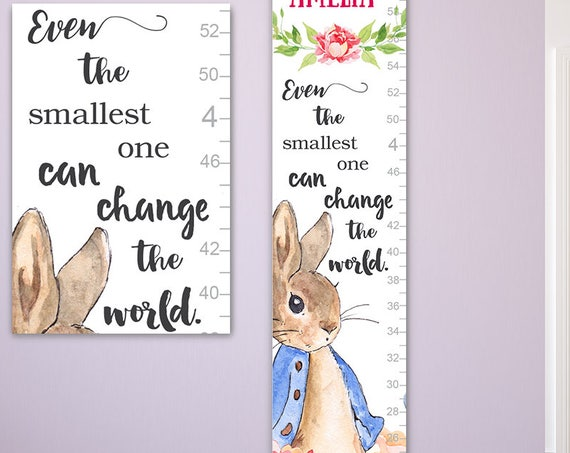 Peter Rabbit - Growth Chart Perfect for Peter Rabbit Nursery, Gift, Peter Rabbit Prints, Peter Rabbit Baby Shower - GC4009SW