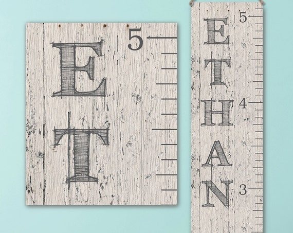 Wall Ruler, Canvas Growth Chart Ruler, Wooden Height Chart, Wood Growth Chart, Height Chart, Boy Growth Chart - GC0100D