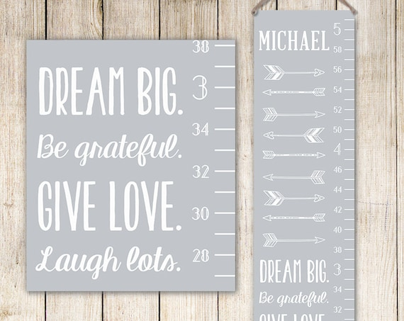 Arrows Growth Chart Ruler - Personalized Canvas Growth Chart - Personalized Gift for Boys - GC0002S