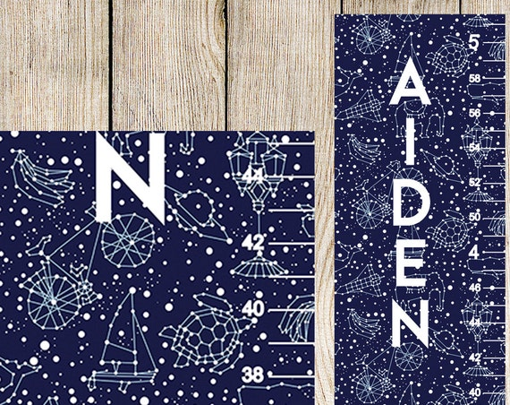 Constellation Growth Chart - Personalized Growth Chart, Solar System Nursery, Height Chart, Constellation Nursery, Boy Gift - GC0001SQ
