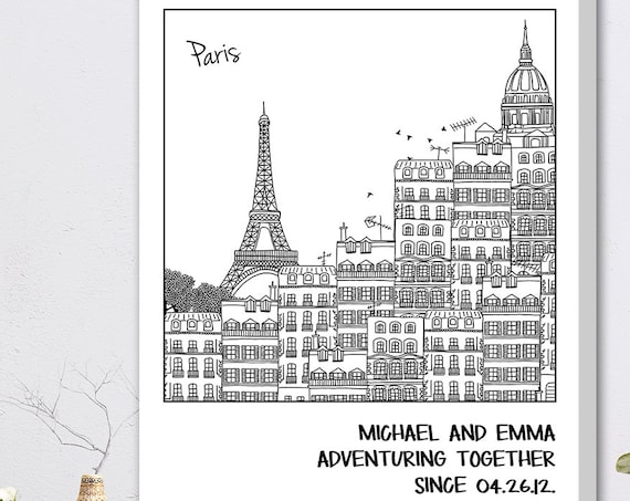 Valentines Gift, Valentines Day Gift - Personalized Coloring Print - Choose Your City! - AA0101S