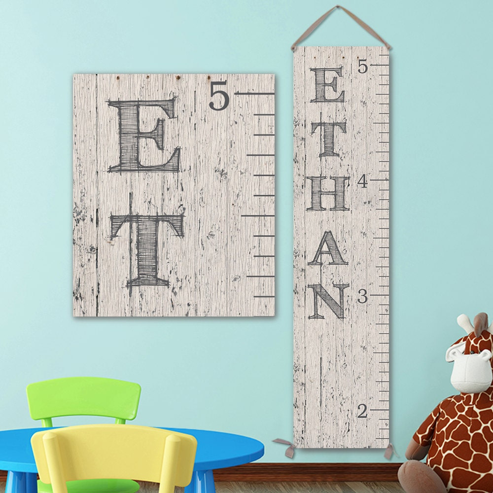 Wall Ruler Canvas Growth Chart Ruler Wooden Height Chart Wood