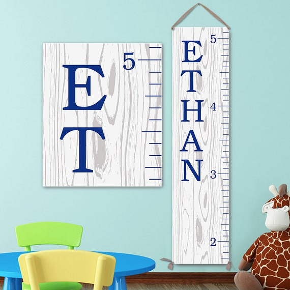 Growth Chart Ruler Personalized Canvas Growth Chart Growth Etsy