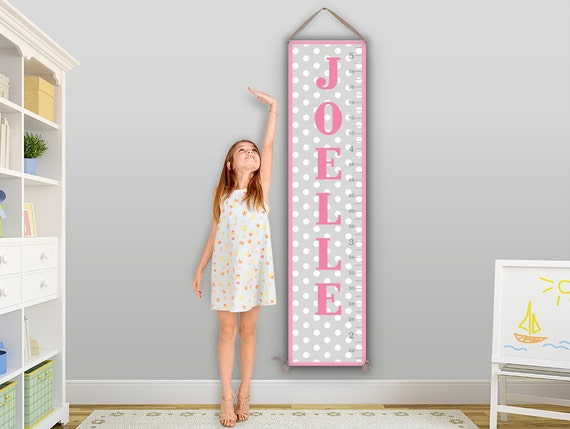 Polka Dot Growth Chart, Polka Dot Decor, Growth Chart Girl, Growth Charts for Children - GC6344S