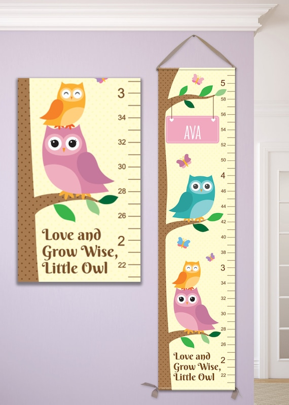 Owl Growth Chart, Owl Nursery, Owl Nursery Decor, Owl Height Chart, Owl Kids Art, Owl Grow Chart, Owl Height Ruler