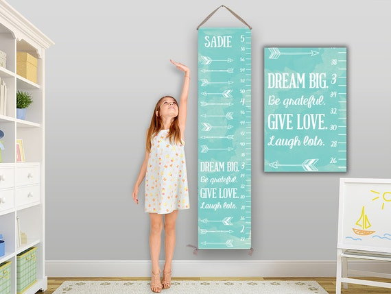 Arrow Growth Chart, Personalized Canvas Growth Chart, Arrow Nursery Decor, Arrow Nursery Art, Arrow Nursery, Grow Chart, Height Chart GC0002