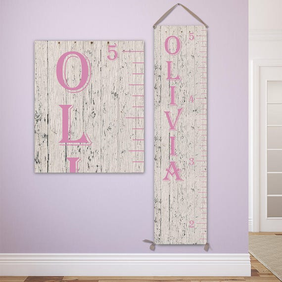 Pink Growth Chart Personalized Growth Chart Growth Chart Etsy