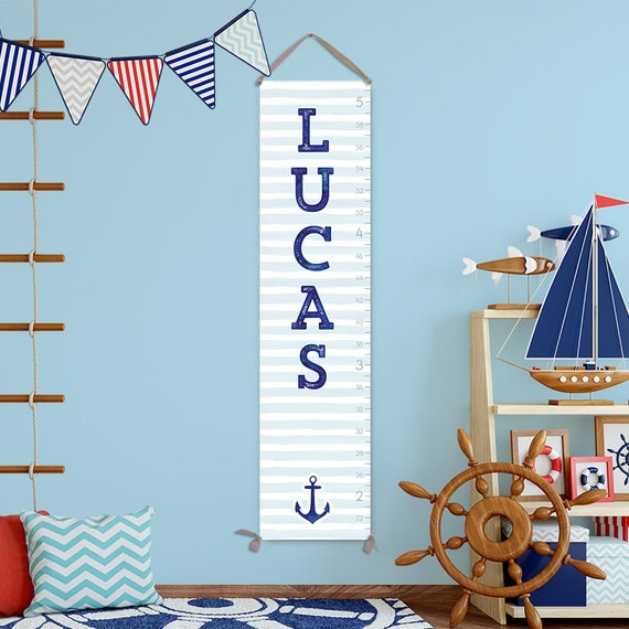 Nautical Growth Chart for Nautical Nursery - GC3017S