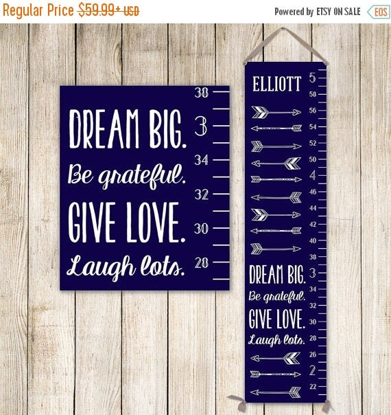 Arrow Growth Chart Personalized Canvas Growth Chart Boys Growth