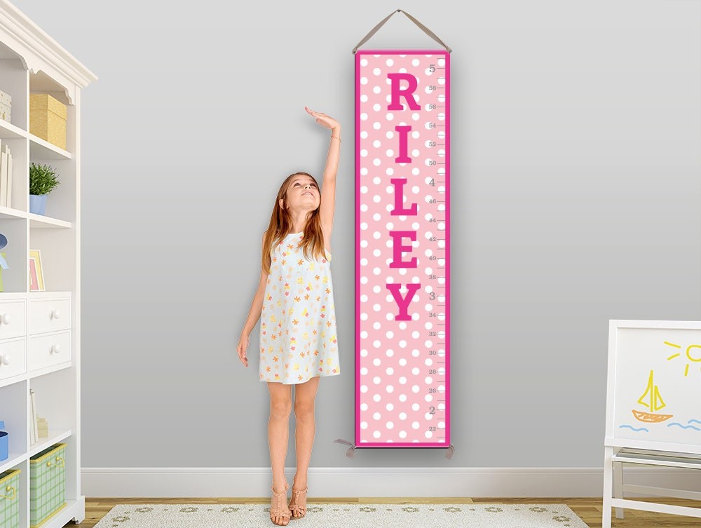 Pink Growth Chart Baby Gift Toddler Gift Kids Gift Childrens Gift