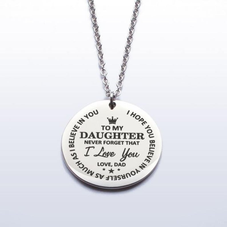800b9621ef0ca Daughter Necklace Gift to my Daughter Dad daughter gift To My Daughter  Never Forget That I Love You Love Dad Necklace,personalized necklace.