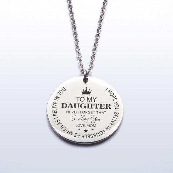 You are Braver Than You Believe for Mom Daughter Jewelry 18K Gold Plated Gifts Necklace Name for Wife to My Gina Always Remember That Mommy Love You