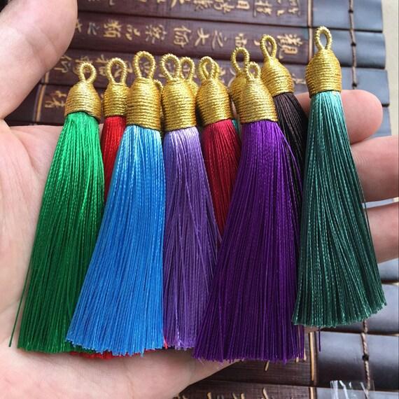 30X Gold and silver tassel Bookmark tassels Jewelry Accessories Handicrafts 4cm