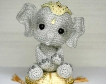 Elfin Thread- Elil, the Chibi Elephant PDF Amigurumi Pattern (Elephant Crochet Pattern)