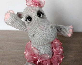 Elfin Thread- Happiness the Hippo Amigurumi PDF Pattern ( crochet hippo tutorial)