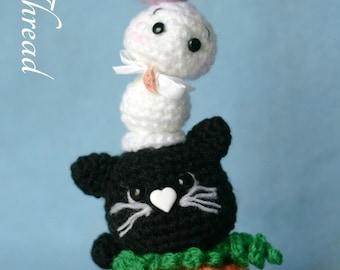 Elfin Thread - Halloween Mini Totem Amigurumi PDF Pattern (halloween crochet totem) Halloween Decoration