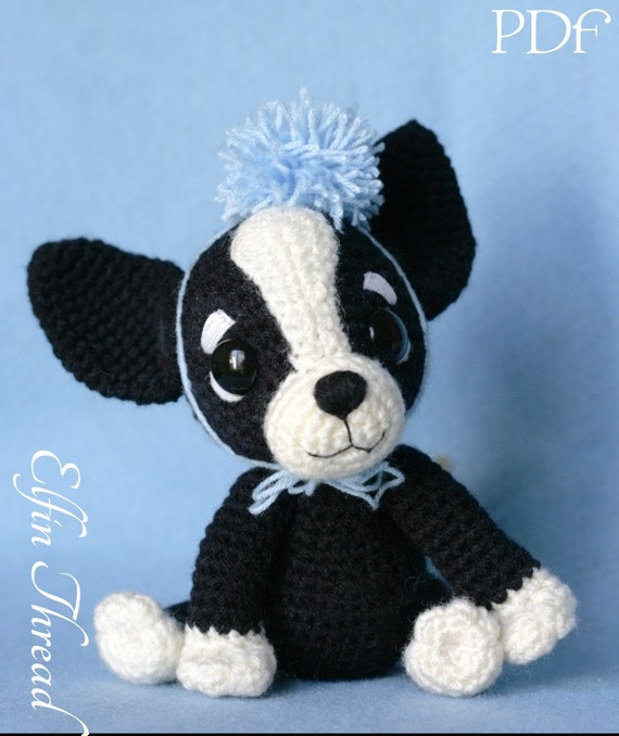 Elfin Thread Chaco The Chihuahua Puppy Amigurumi Pdf Etsy